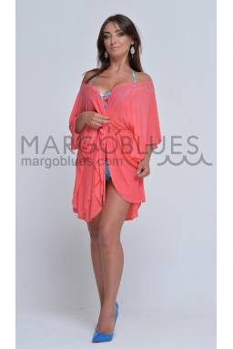 Пляжный халат N98 однотонная расцветка