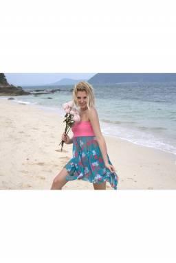 Пляжная юбка-сарафан  N127