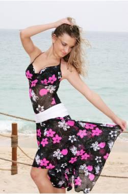 Пляжная юбка N127 яркого цвета